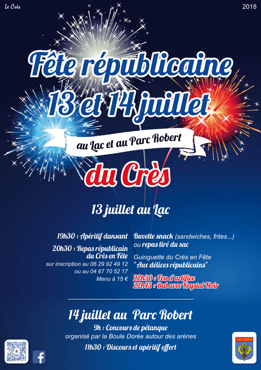Fête nationale au Crès