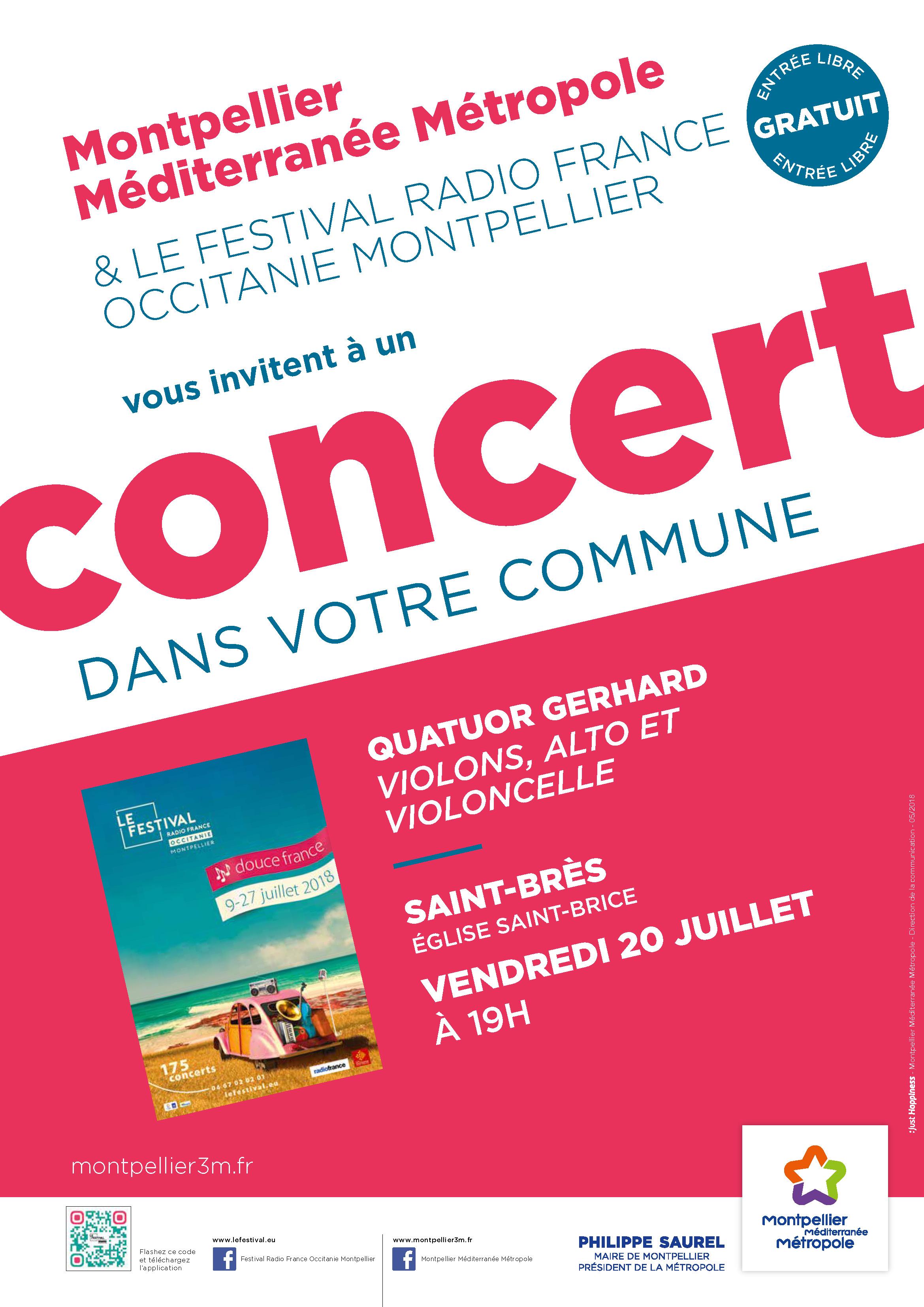 Festival Radio France Occitanie Montpellier   QUATUOR GERHARD