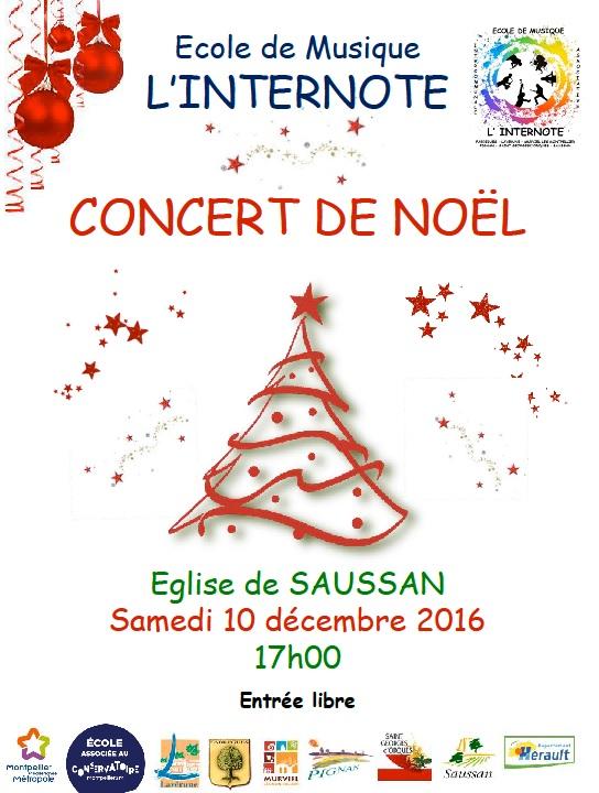 Affiche du Concert de Noël