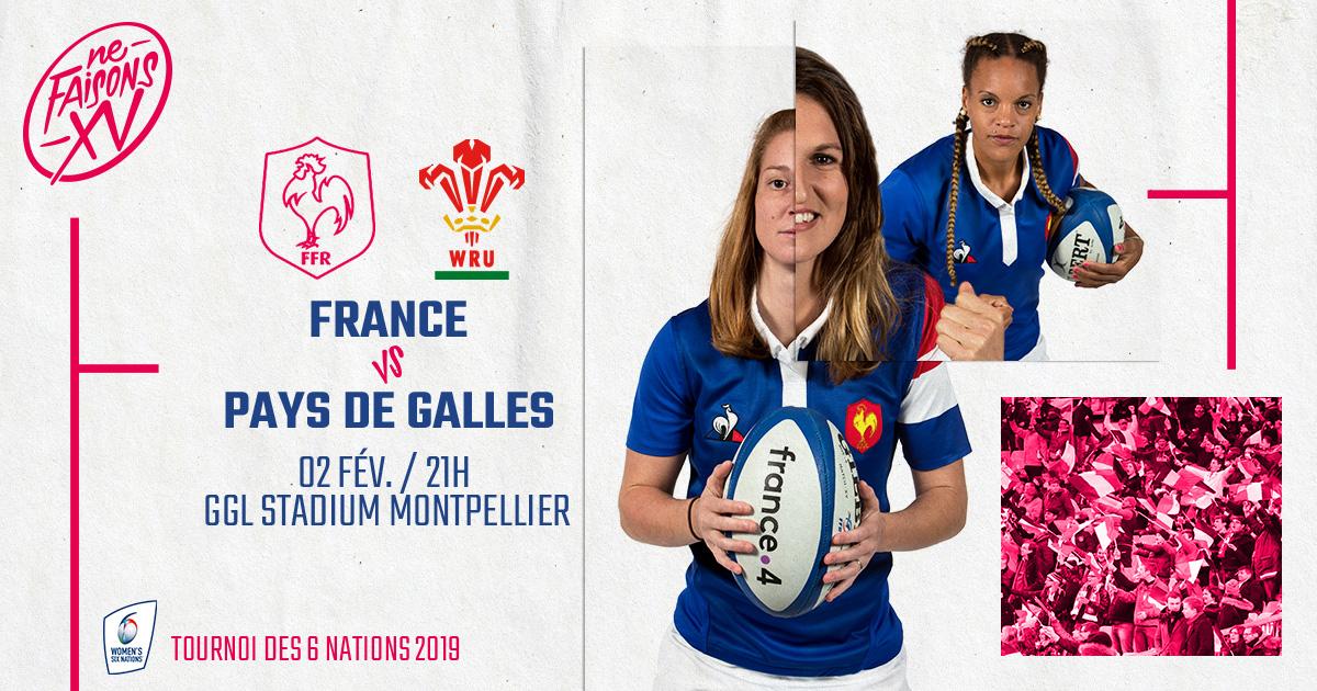 Tournoi des 6 nations féminin : France Féminines / Pays de Galles