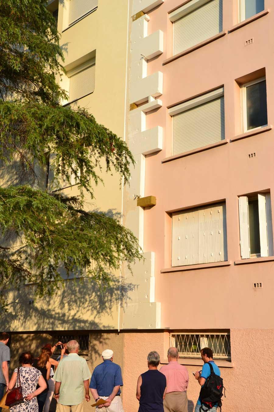 Vue de la façade de la copropriété avant rénovation