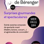 """Affiche de la pièce """"Les tartines de Bérenger"""""""