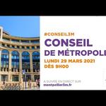 Embedded thumbnail for Conseil de Métropole du 29 mars 2021