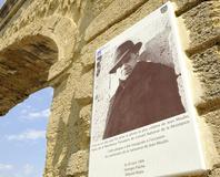 Montpellier - Les arceaux, la célèbre photo de Jean Moulin
