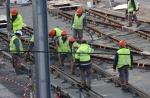 Les ouvrirers des lignes 3 et  4 de tramway