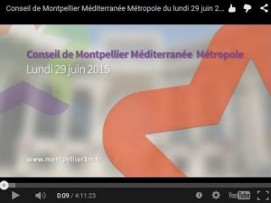 Embedded thumbnail for Conseil de Métropole du 29 juin 2015