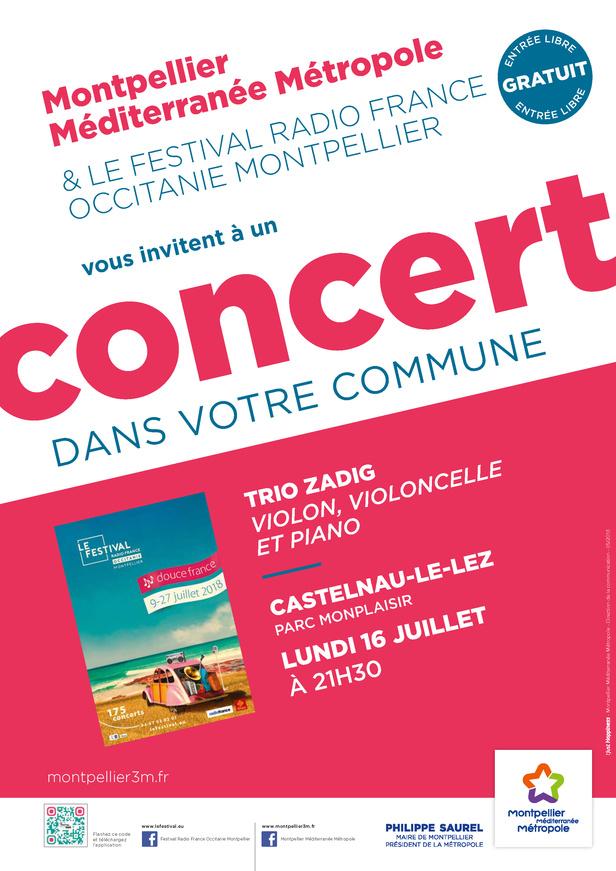 Festival Radio France Occitanie Montpellier   TRIO ZADIG