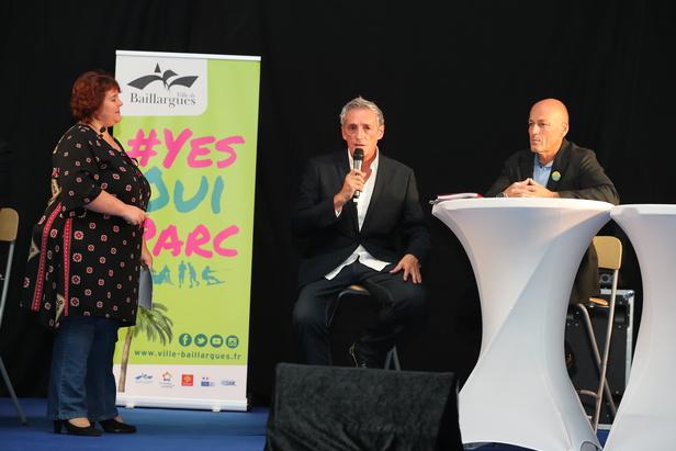 Philippe Saurel et Jean-Luc Meissonnier à la réunion publique