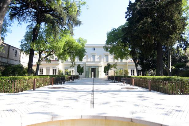 Vue des jardin de l'hôtel Montcalm