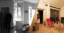Photo de l'intérieur de l'appartement avant et après rénovation