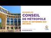 Embedded thumbnail for Conseil de Métropole 28 septembre