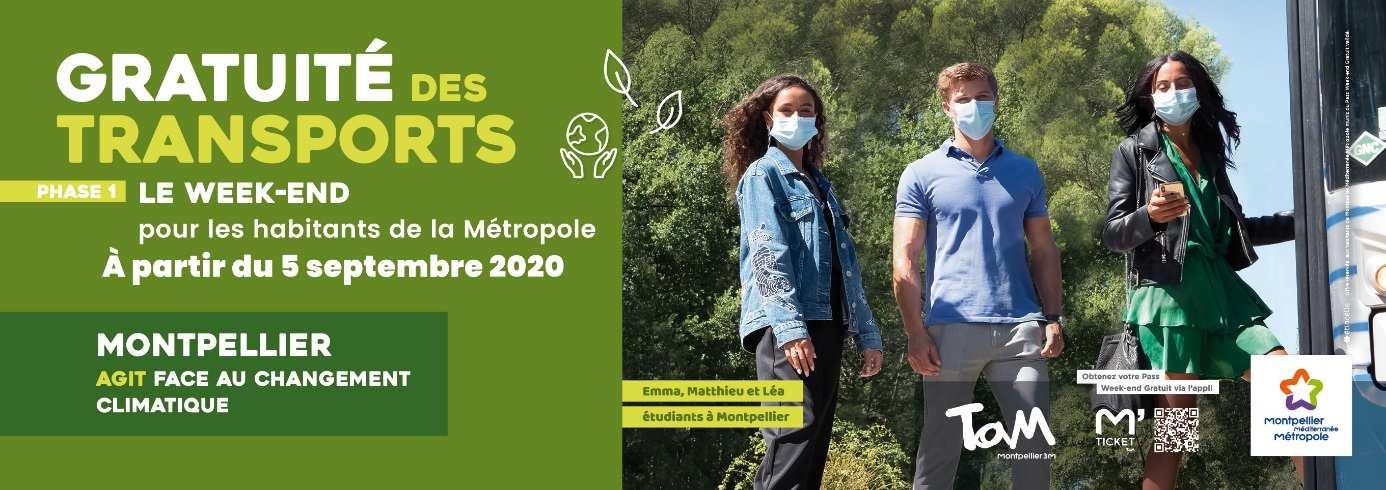 Transports gratuits les week-ends pour les habitants de la Métropole